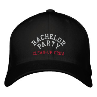 Bachelor Party, Clean-up Crew, Best Man Embroidered Hat
