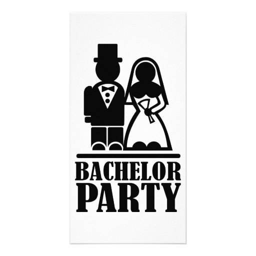 Bachelor Party couple Photo Card
