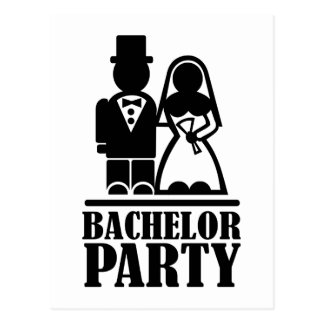 Bachelor Party couple Postcard