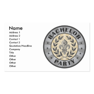 Bachelor Party Crest Design Pack Of Standard Business Cards