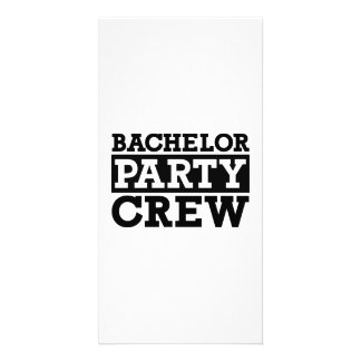 Bachelor Party Crew Customised Photo Card