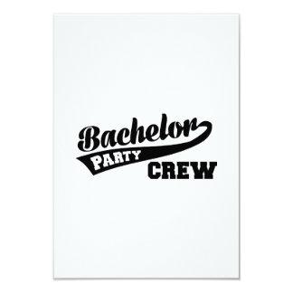 Bachelor Party Crew 9 Cm X 13 Cm Invitation Card