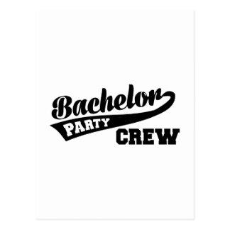 Bachelor Party Crew Postcard