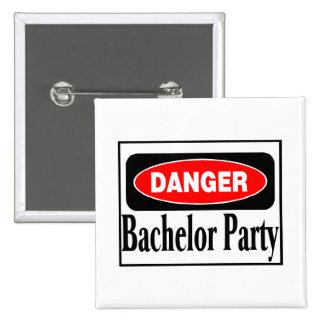 Bachelor Party Danger 15 Cm Square Badge