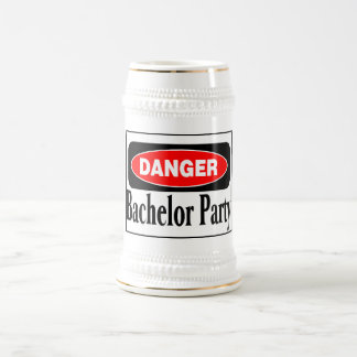 Bachelor Party Danger Beer Steins