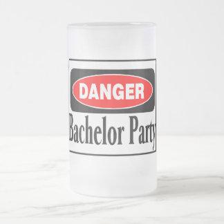 Bachelor Party Danger Frosted Glass Mug