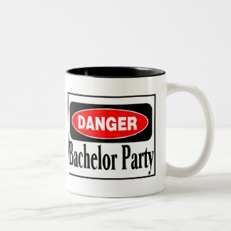 Bachelor Party Danger Two-Tone Coffee Mug