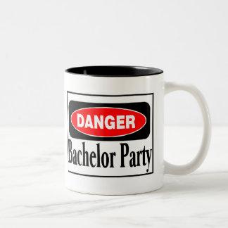 Bachelor Party Danger Two-Tone Mug