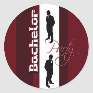 Bachelor party distinguished gentlemans classic round sticker