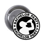 Bachelor Party drinking 6 Cm Round Badge