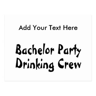 Bachelor Party Drinking Crew Postcard
