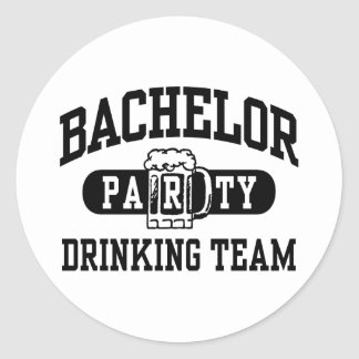 Bachelor Party Drinking Team Classic Round Sticker