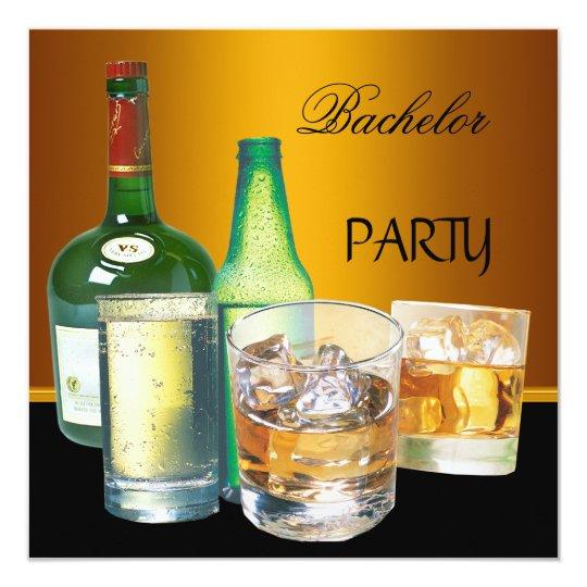 Bachelor Party Drinks Bottles Card