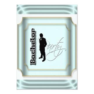 Bachelor party formal tuxedo 13 cm x 18 cm invitation card