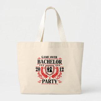 bachelor party game over 2012 jumbo tote bag