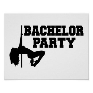 Bachelor Party girl Poster
