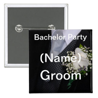 Bachelor Party Groom Button