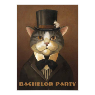 """bachelor party,groom shower,stag party.... 5"""" x 7"""" invitation card"""