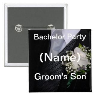Bachelor Party Grooms Son Button