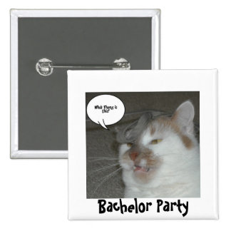 Bachelor Party Humor Pins