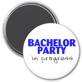 Bachelor Party In Progress 7.5 Cm Round Magnet