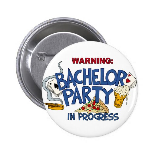 Bachelor Party in Progress Pins