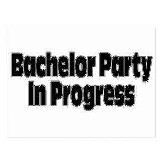 Bachelor Party In Progress (Blk) Postcard