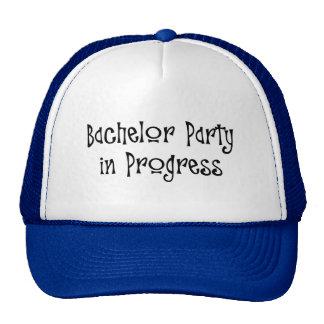 Bachelor Party In Progress Trucker Hats