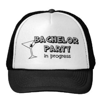 Bachelor party in progress hat