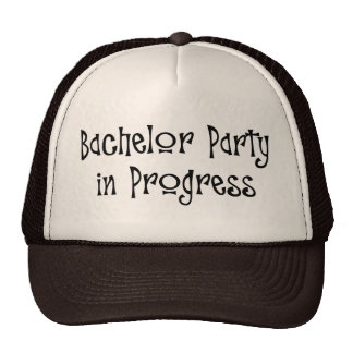 Bachelor Party In Progress Mesh Hats