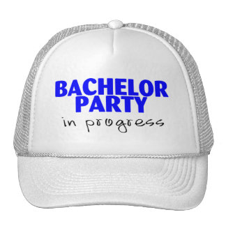 Bachelor Party In Progress Hats