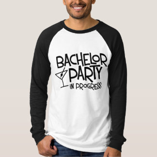 Bachelor Party in Progress Long Sleeve Raglan T-Shirt