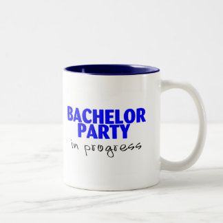 Bachelor Party In Progress Mugs