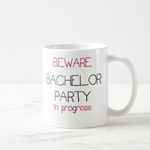Bachelor Party in Progress Mugs