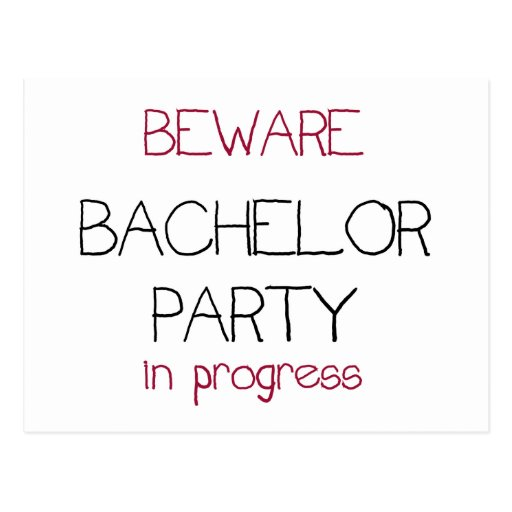Bachelor Party in Progress Post Card