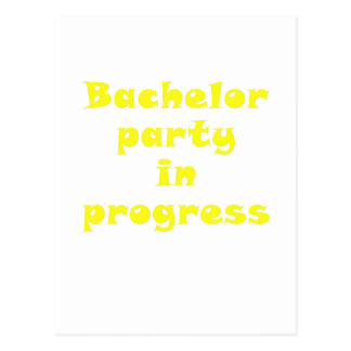 Bachelor Party in Progress Postcard