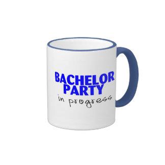 Bachelor Party In Progress Ringer Mug