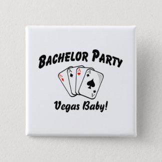 Bachelor Party Las Vegas 15 Cm Square Badge