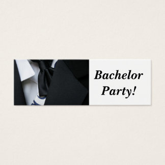 Bachelor Party Mini Business Card