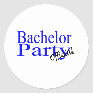 Bachelor Party (Official) Round Sticker