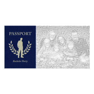 bachelor party passport photo greeting card