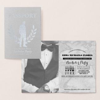 Bachelor Party passport silver foil Foil Card