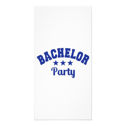 Bachelor Party Photo Card Template