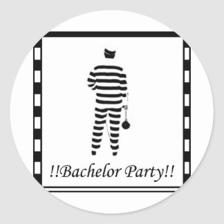 Bachelor party - Prison Man Round Sticker
