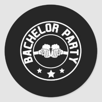 Bachelor Party Round Sticker