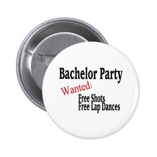 Bachelor Party (Shots and Lap Dances) 6 Cm Round Badge