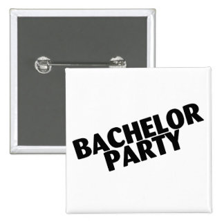 Bachelor Party Slanted Black Pins