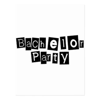 Bachelor Party (Sq Blk) Postcard