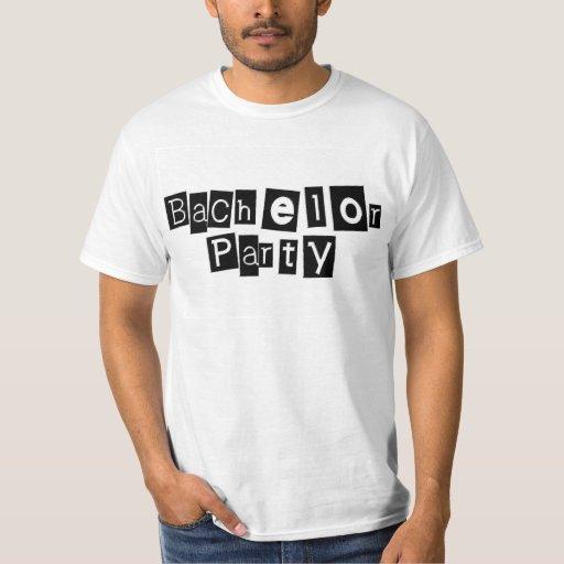 Bachelor Party (Sq Blk) T-Shirt
