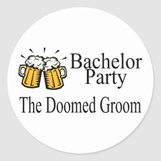 Bachelor Party The Doomed Groom Round Stickers